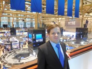 Atemberaubender Blick von der Galerie auf das Geschehen der New York Stock Exchange