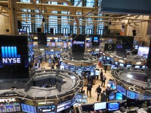 Foto des NYSE-Trading-Floors von oben